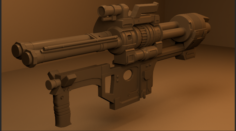 Shooter-gun 3D Model