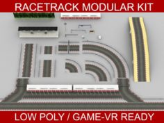 Race Track Modular Construction Kit 3D Model