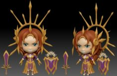Leona chibi of LOL 3D Model