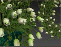 3D Vase with flowers and wreath 06 3D Model