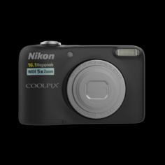 NIKON DIGICAM 16MP L31 BLACK 3D Model
