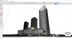 Sketchup Commercial and office residential complex D4 3D Model