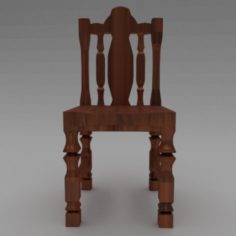 Artisan chair for the exterior and interior 3D Model