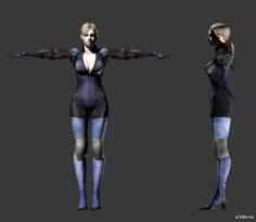 Jill Valentine (Battle Suit) 3D Model