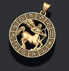 Zodiac Sagittarius lite 3D Model
