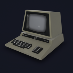 Retro computer Game Ready 3D Model