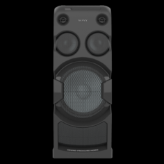 Sony MHC V44D Audio System Black 3D Model