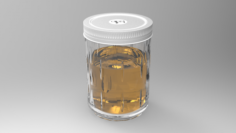 Honey Glass 3D Model