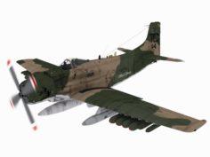 Douglas A-1 J Skyraider 3D Model
