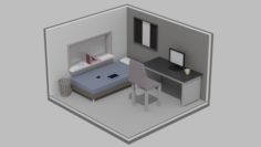 3d Low Poly Room Free 3D Model