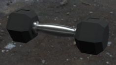 3D Low Poly Dumbell model Free 3D Model
