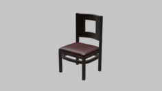 Restaurant Dining Chair 2 3D Model