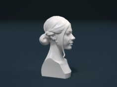 Woman Hair Style 3D Model