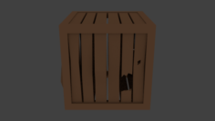 Low poly Old wooden box 3D Model