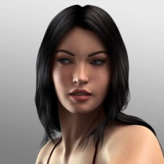 Photorealistic Celebrity Actress Pack – Gal Gadot Megan Fox naked woman model 3D Model