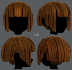 3D Hair style for girl V31 3D Model