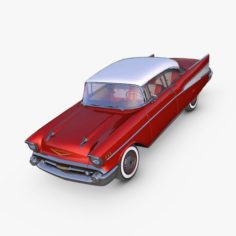 Chevrolet Bel Air 1957 red 3D Model