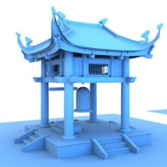 Bell tower of vietnam 3D Model