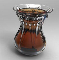 Slim waist teacup 3D Model