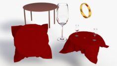 Valentines Day Set 3D Model