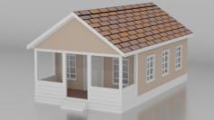 Simple House model Free 3D Model