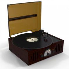 Vinyl Player 3D Model