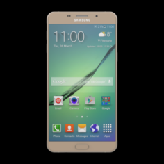 SAMSUNG GALAXY A9 PRO 2016 GOLD 3D Model