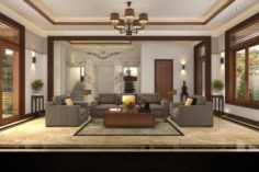 Villa livingroom tradition 3D Model