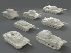 Tanks7 pieces – part-3 3D Model