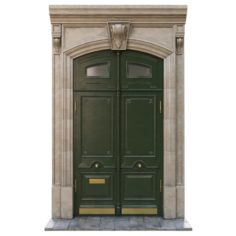 Entrance classic door 02 3D Model