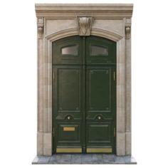 Entrance classic door 02 3D Model