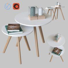 Coffee tables Signal Milan 3D Model