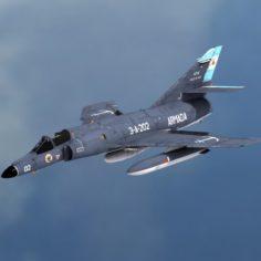 Argentine Naval Aviation Dassault-Breguet Super 3D Model
