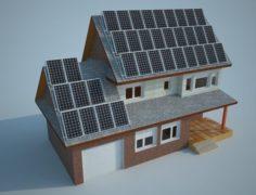 Bioclimatic house 3D Model