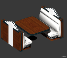 Table Booth 3D Model