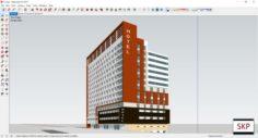 Sketchup Hotel H1 3D Model