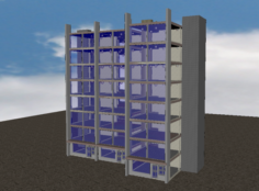 Sky Restaurant 3D Model