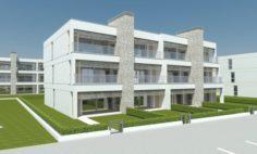 Beach Apartment Building Type 1 3D Model