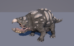 Bolladon Female Dinosaur 3D Model