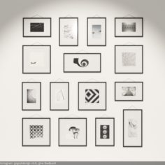 Classy Gallery Frames 3D 3D Model