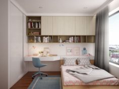 Girl bedroom 3D Model