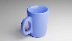Blue Cup 3D Model