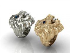 2 lion rins 3D Model