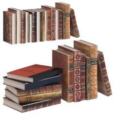 L3DV02G02 – old book collection set 3D Model