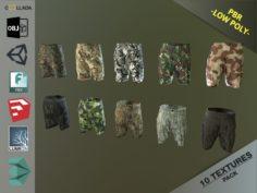 Camouflage Pants 1 3D Model