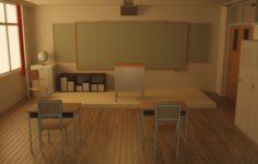 Classroom 3D Model