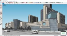 Sketchup Commercial and office complex D9 3D Model