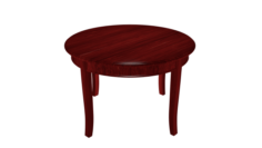 Wooden round table High poly made in Blender 3D 3D Model