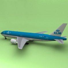 Boeing 767 KLM 3D Model