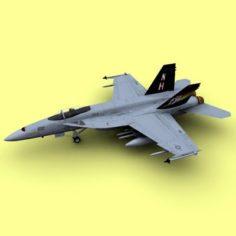 F-A-18E 3D Model